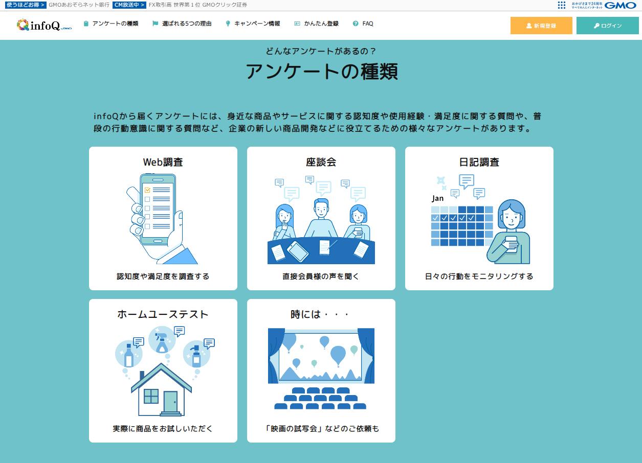 infoQ(アンケートサイト)
